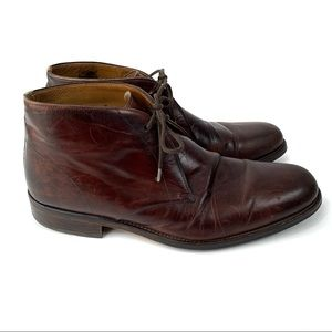Magnanni Brown Leather Chukka Dress Boots Size 12